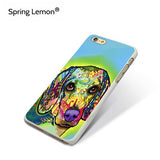 Dog Phone Cases - Abstract Watercolor Designs, Wide Range of Breeds For iPhones