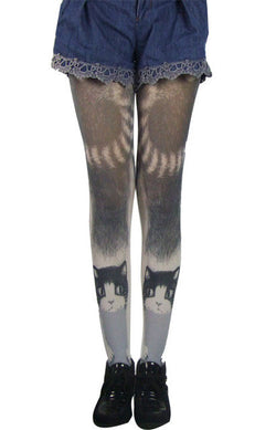 Cat Leggings - Women's Tights - Womens' Tights With Cats, Pantyhose, Stockings - 2 Designs