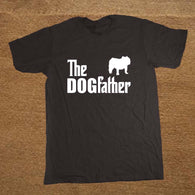 Dog T-Shirts - The Dogfather English Bulldog Dog Funny T Shirt for Men  - 5 Sizes/9 Colors
