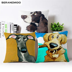 Dog Pillow Cases - Beautiful Cartoon Design Dig Pillow Cases - 9 Designs