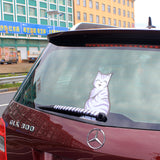 Cat Stickers - Cat Tail Windscreen Wiper Stickers, Cartoon Funny Cat - 4 styles