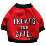 Costumes for Dogs - 'Treats and Chill' Dog Clothes for Winter  - 4 Sizes