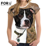 Dog T-Shirts - Bull Terrier Women's Summer T-Shirt, 3D Bull Terrier - 5 Sizes/ 10 Designs to choose from