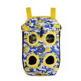 Puppy Dog Carrier, Backpack, Colorful Camouflage Print - 3 Sizes / 2 Colors