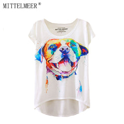Dog T-Shirts - 2017 Brand New Watercolor Dog T-Shirt  - 1 Size