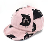 Cat Hats - Black Cat Print Cap, for Child up to 18 months - 4 Colors