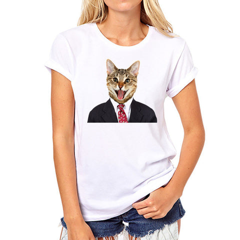 Cat T-Shirts - 3D Animal Print Women's Cool Funny Cats - 5 Sizes