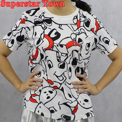 Dog T-Shirts - Dalmations Cartoon Dogs T-shirts For Women