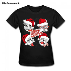 Dog T-Shirts - Christmas Hat Wearing Dogs, Printed T-shirt - 5 Sizes/12 Colors