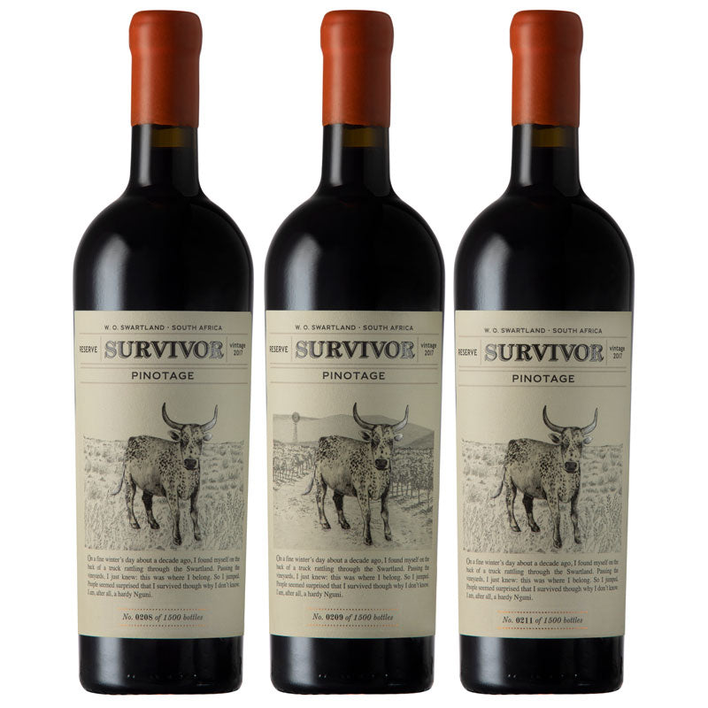 Survivor Pinotage Reserve 2017 (case of 3)