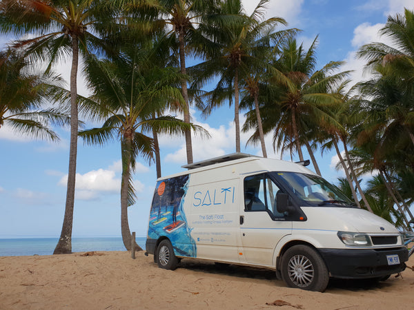 Salti Australia tour - visiting pools showcasing the Salti Float