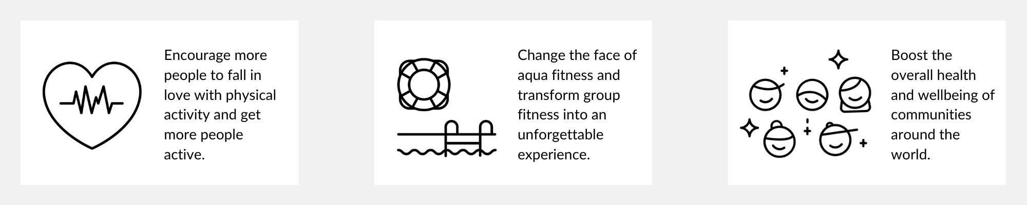Salti is here to encourage more people to get active, to boost social wellbeing and health in communities and change the face of aqua fitness
