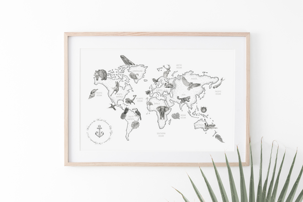 Little Explorer Personalised Print | A2