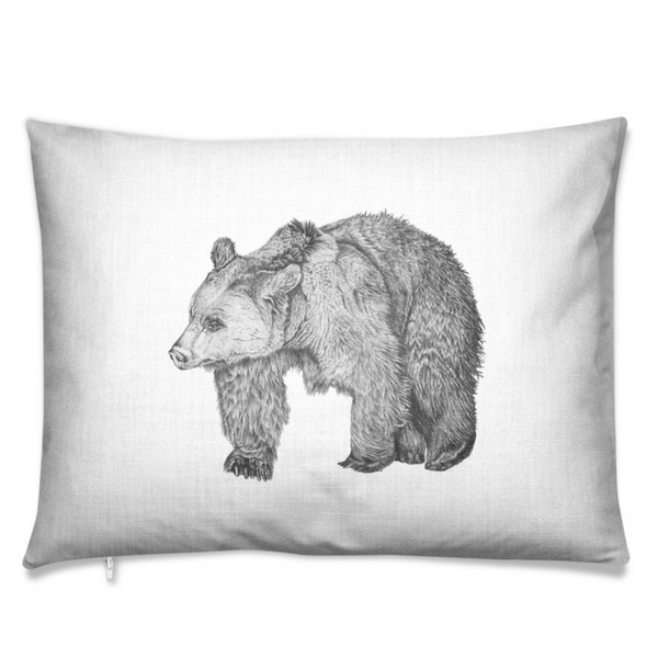 Bear Chalk Rectangular Cushion