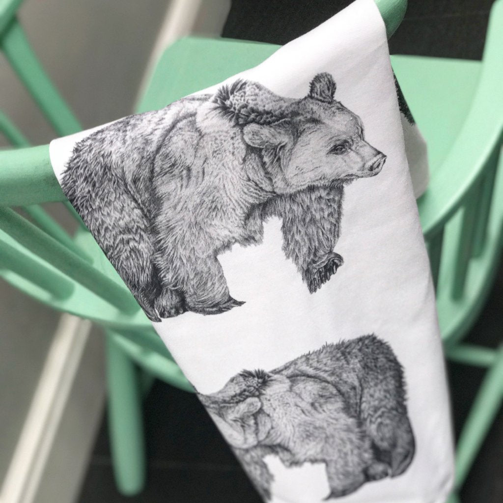 Three Bears Tea Towel