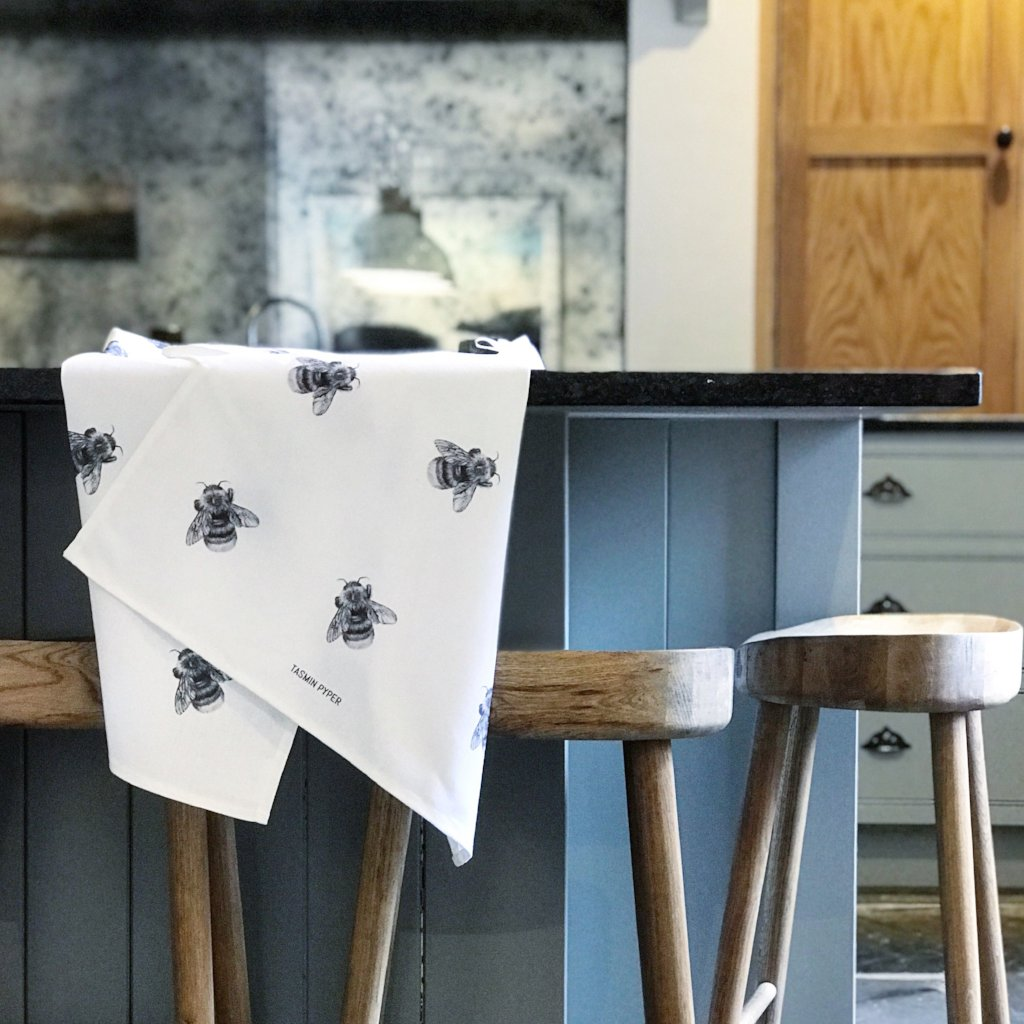 Bumble Tea Towel