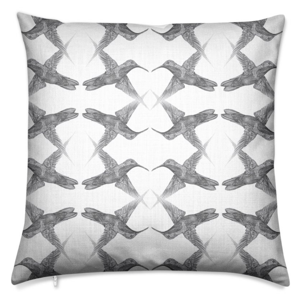 Hummingbird Chalk Large Cushion
