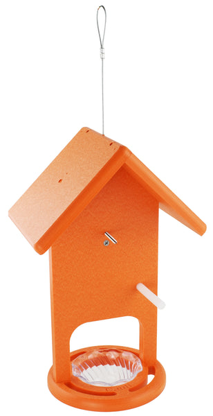 Cauff Poly Baltimore Oriole Fruit Jelly Hanging Bird Feeder Orange