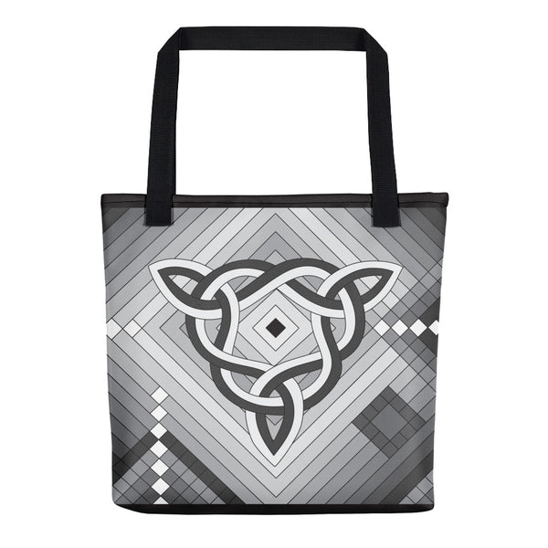 """Sacred Space"" Bag in White, Gray, and Black"