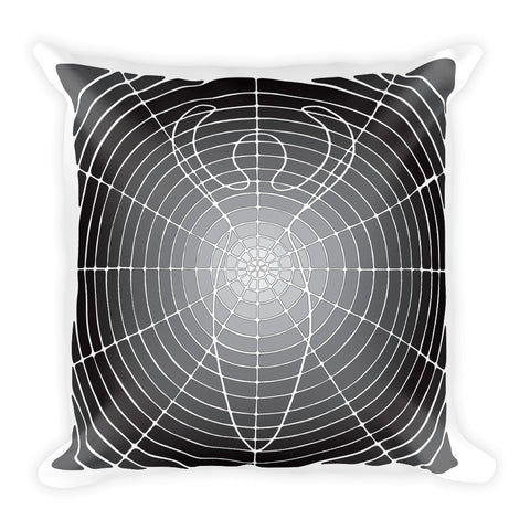 """Circled Whole"" Designer Pillow in black and white"