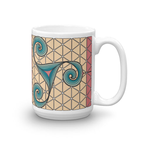 """Dancing Spirals"" Tall Mug"