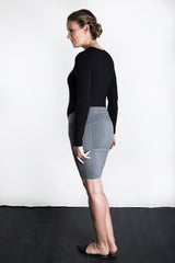 MATRON SAINT the ace maternity mini skirt charcoal 116