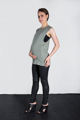MATRON SAINT the conqueror maternity muscle tank sage 105