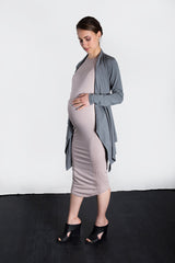MATRON SAINT the executive maternity wrap jacket charcoal 127