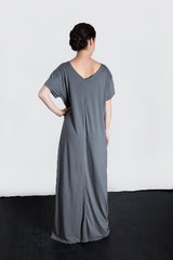 MATRON SAINT the founder maternity maxi dress charcoal 136