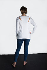 MATRON SAINT the innovator maternity long-sleeve cutout top white 102