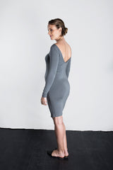 MATRON SAINT the queen maternity v-back dress charcoal 141