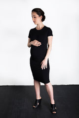 MATRON SAINT the rebel monarch maternity cutout back dress black 109