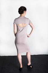 MATRON SAINT the rebel monarch maternity cutout back dress dusty rose 109
