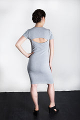 MATRON SAINT the rebel monarch maternity cutout back dress heather grey 109