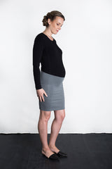 MATRON SAINT the royal maternity long-sleeve crew top black 111
