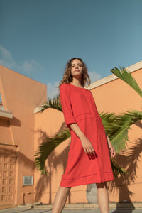 ROBE LEILANI ROUGE