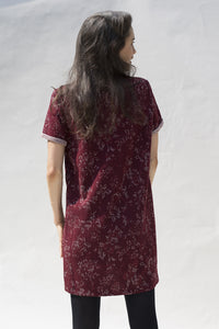 ROBE SUSAN - bordeaux lurex