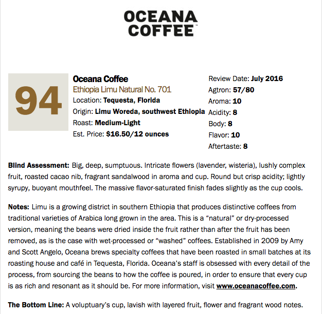 Ethiopia Limu Natural - Light Roast - Oceana Coffee Roasters