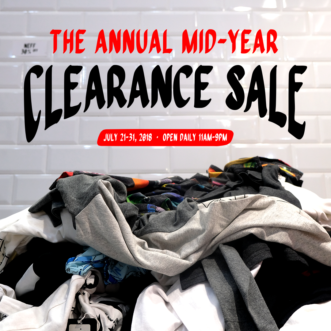 THE ANNUAL MID-YEAR CLEARANCE SALE