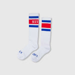 Crew Socks 'Blue/Red'