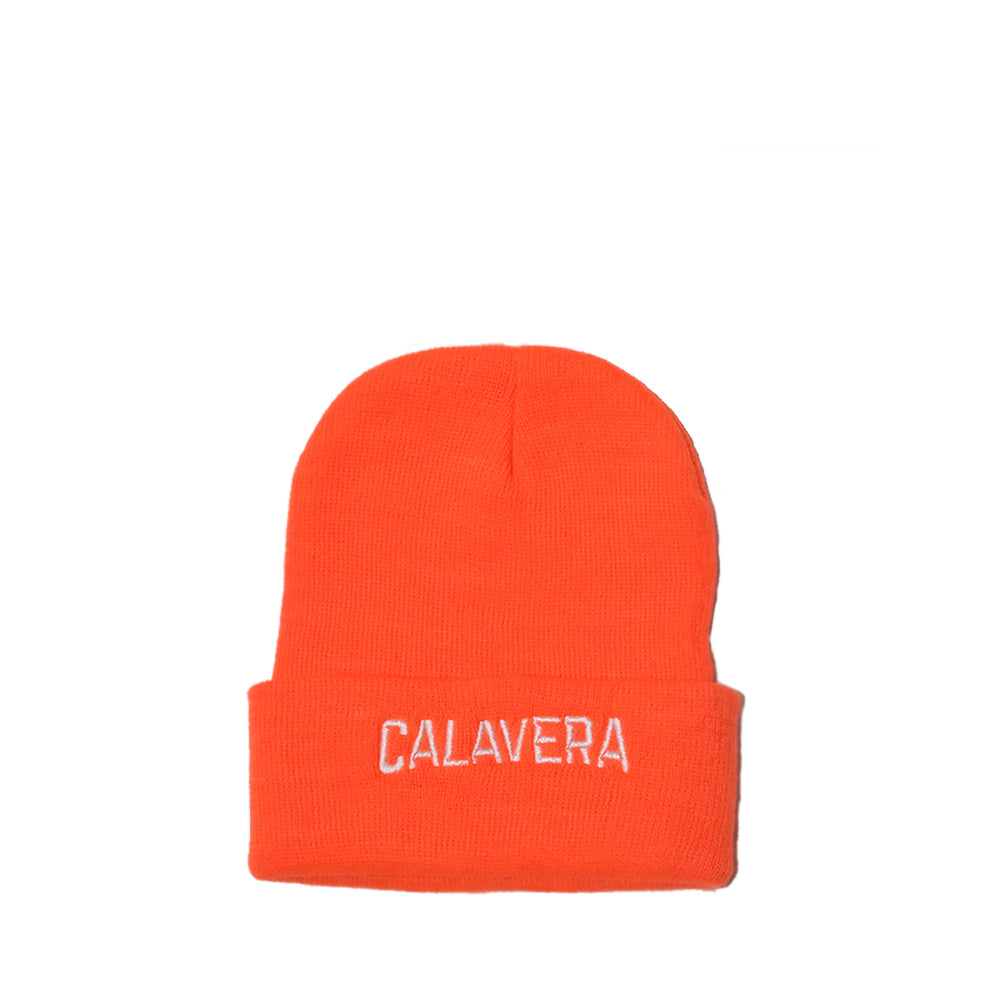 Calavera Beanie 'Orange""