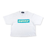 Box Logo Crop Top 'White'