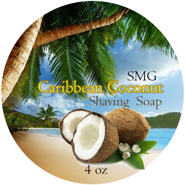 SMG Caribbean Coconut Shaving Soap