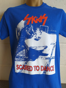 "Skids ""Scared to Dance"" T shirt - Blue (Small Only) - £15"