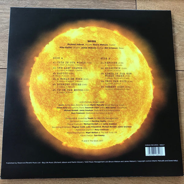 Burning Cities Vinyl : Signed - Richard Jobson