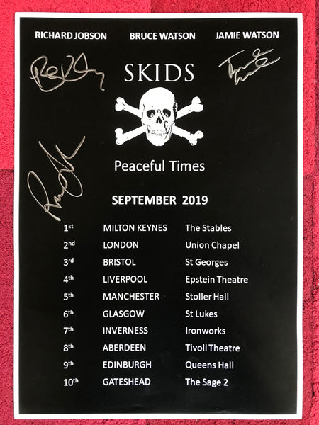 SIGNED PEACEFUL TIMES TOUR  POSTER - 2019  (A3 size)