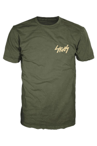 Green Skids t shirt with Cream Logo (Breast) - £10