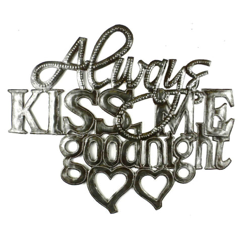 Kiss Me Goodnight Metal Wall Art - Croix des Bouquets