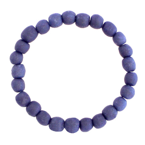 Recycled Glass Bead Bracelet Blueberry - Global Mamas