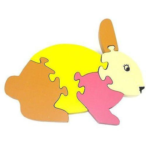 Wooden Bunny Puzzle Handmade and Fair Trade